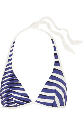 LA PERLA Op-Art printed triangle bikini top