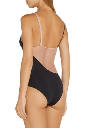 LA PERLA Mesh-paneled swimsuit