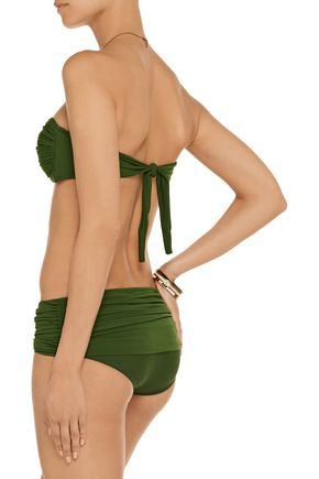 NORMA KAMALI Bill low-rise ruched bikini briefs