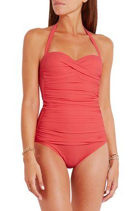 HEIDI KLEIN Sardinia ruched swimsuit