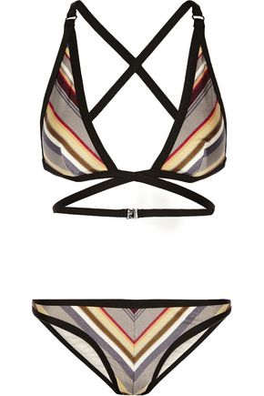 ZIMMERMANN Ticking Wrap striped bikini
