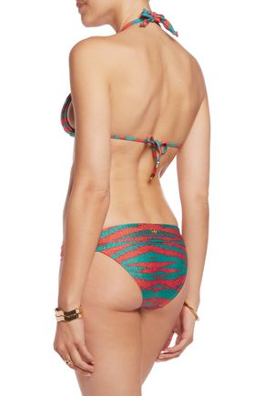 VIX Marmara printed low-rise bikini briefs