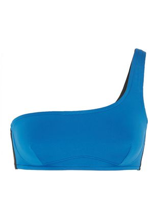 STELLA McCARTNEY Iconic color-block one-shoulder bikini