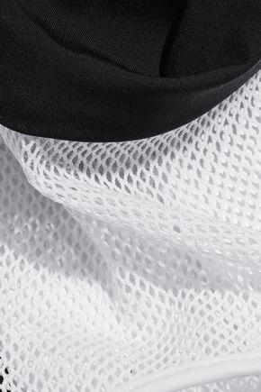 T by ALEXANDER WANG Racer-back mesh-paneled stretch bikini top