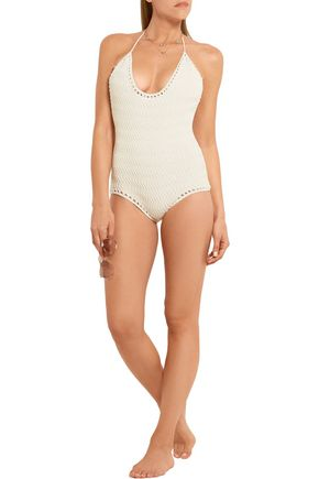 SHE MADE ME Laharia crocheted cotton swimsuit