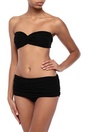 NORMA KAMALI Johnny D twisted bandeau bikini top