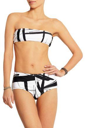 NORMA KAMALI Printed bandeau bikini top