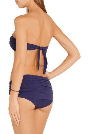 NORMA KAMALI Bill ruched low-rise bikini briefs