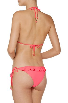 EBERJEY So Solid Waverly ruffle-trimmed triangle bikini top
