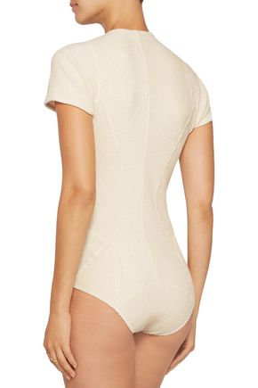 LISA MARIE FERNANDEZ Farrah cotton-blend terry swimsuit