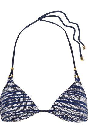 HEIDI KLUM SWIM Printed triangle bikini top