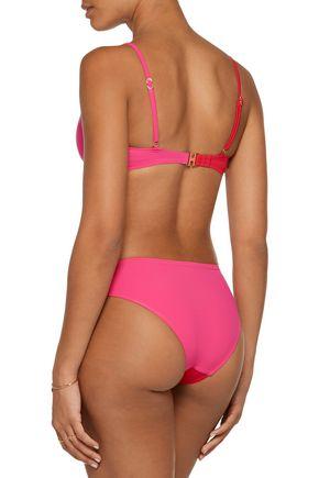 HEIDI KLUM SWIM Savannah Sunset low-rise color-block cutout bikini briefs