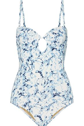 TART Reese cutout printed swimsuit