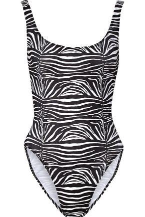 NORMA KAMALI William printed swimsuit
