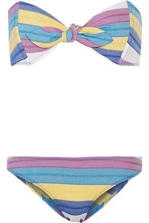 LISA MARIE FERNANDEZ Poppy Stripe bandeau bikini