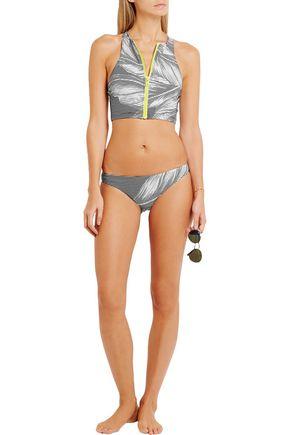 THE UPSIDE Valley Palms printed stretch-jersey bikini briefs