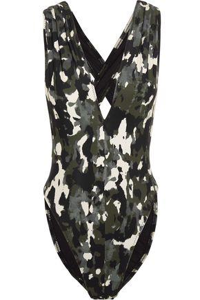 NORMA KAMALI Marissa camouflage-print swimsuit