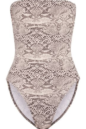 NORMA KAMALI Bishop snake-print swimsuit