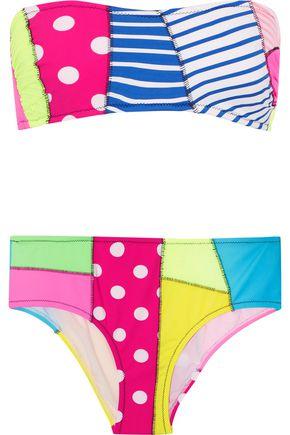 MOSCHINO Printed bandeau bikini