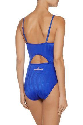 ADIDAS by STELLA McCARTNEY Cutout striped swimsuit
