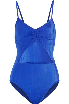 ADIDAS by STELLA McCARTNEY Cutout striped swimsuit