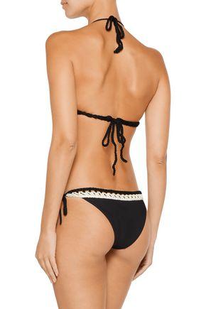 EMILIO PUCCI Cotton-trimmed triangle bikini