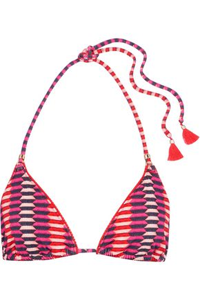 HEIDI KLUM SWIM Catalina Kisses printed triangle bikini top