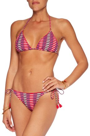 HEIDI KLUM SWIM Catalina Kisses printed low-rise bikini briefs
