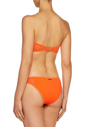 STELLA McCARTNEY Mesh-paneled low-rise bikini briefs