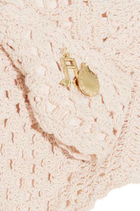 STELLA McCARTNEY Metallic crochet-knit triangle bikini