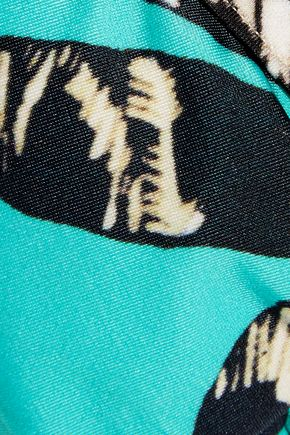 VIX Kelp Mini Pipe printed triangle bikini top