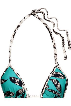 VIX Kelp Mini Pipe printed triangle bikini top