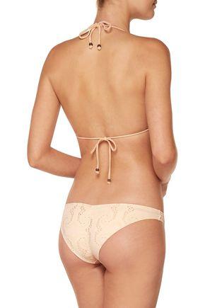 EBERJEY Wandering Spirit Gisele crochet-trimmed triangle bikini top