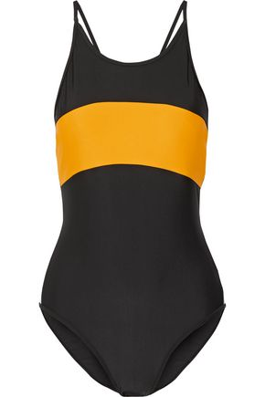 P.E NATION The Dream color-block swimsuit