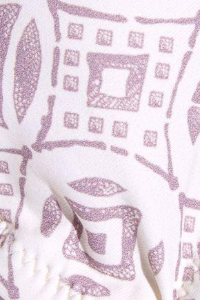 EBERJEY Sandbar Cassidy tie-front printed bikini top