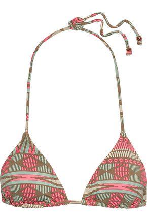 EBERJEY Geo Weave Gisele printed triangle bikini top