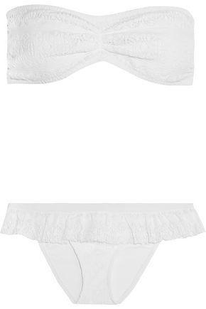 MELISSA ODABASH Mykonos crocheted bandeau bikini