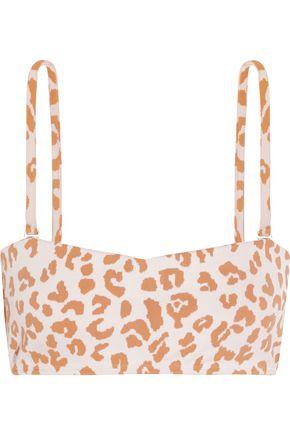 PRISM Hossegor leopard-print bandeau bikini top