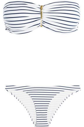MELISSA ODABASH Sumatra striped bikini briefs