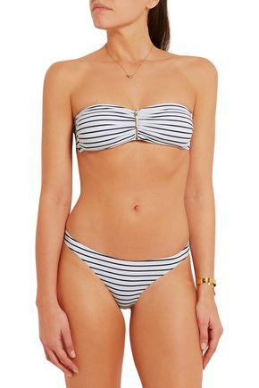 MELISSA ODABASH Sumatra striped bandeau bikini top