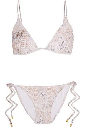 MELISSA ODABASH Manhattan metallic triangle bikini