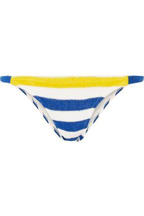 SOLID & STRIPED The Morgan striped stretch-terry bikini briefs