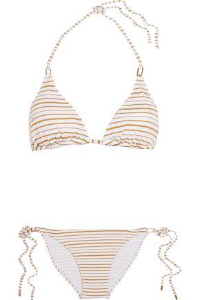 MELISSA ODABASH Cancun striped triangle bikini