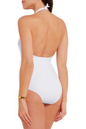 MELISSA ODABASH Dominica belted halteneck swimsuit