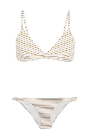 MELISSA ODABASH Greece striped triangle bikini