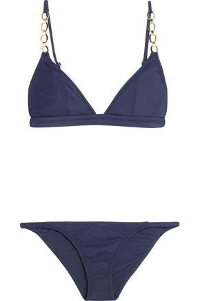MELISSA ODABASH Mexico chain-embellished triangle bikini