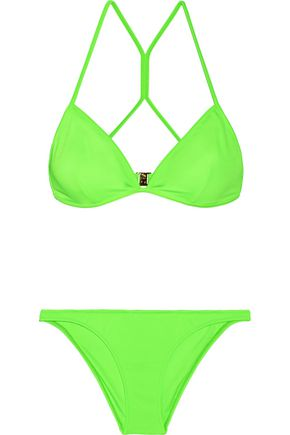 MELISSA ODABASH Cabo neon triangle bikini