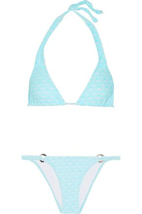 MELISSA ODABASH Italy striped triangle bikini