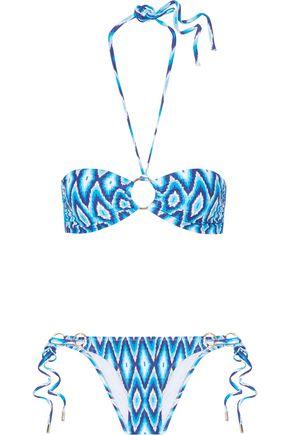 MELISSA ODABASH Janeiro leopard-print bandeau bikini