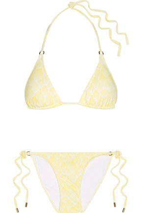 MELISSA ODABASH Key West printed triangle bikini